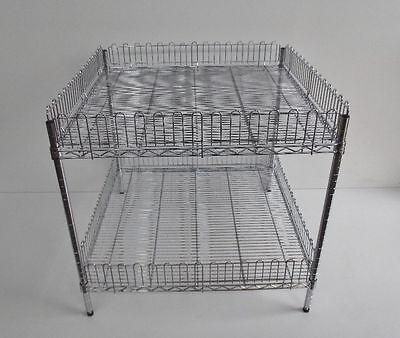 Verkaufskorb Verkaufstisch Wühlkorb Chrom Verchromt 900x900x820 Fachlast 250kg