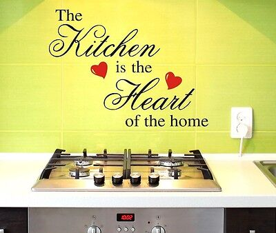 Home Decoration - KITCHEN IS HEART OF HOME Wall Decor Removable Vinyl Decal Sticker Art DIY Mural
