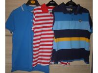 Lyle & Scott Boy's 3 x Polo Shirt Tops Age 8-9 Years Like New