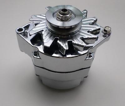 GM CHROME 120 AMP 10SI 1 or 3 WIRE  V Belt ALTERNATOR Chevy 327-350-396-427-454