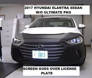 Lebra Front End Mask Cover Bra Fits 2017-18 Hyundai Elantra Sed.w/o Ultima.PKG
