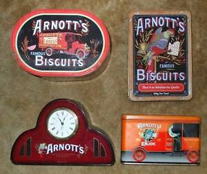 ARNOTT'S BISCUITS COLLECTABLE TINS - 4 OF THEM Warners Bay Lake Macquarie Area Preview