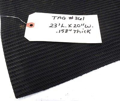 Unknown Brand Conveyor Belt 23 X 20 Black Rubber Rough Top
