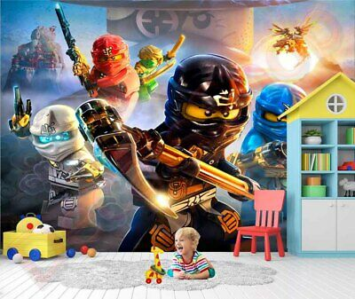 3D Removable Large Wallpaper Ninjago Wall Vinyl Sticker Mural Gift FREE SHIPPING