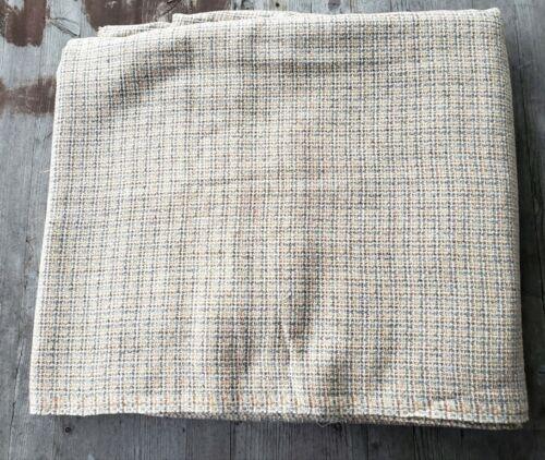 "Vintage Wool Fabric Yellow/Gray/Brown/Cream Weave 128"" x 60"""