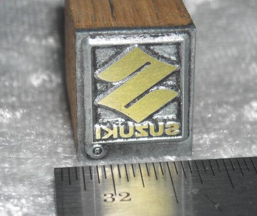 Vintage SUZUKI Motor Company LOGO  Printers press Block ENGRAVED Metal Stamp