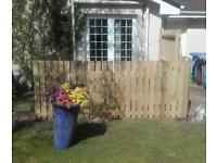 Timber framed fence