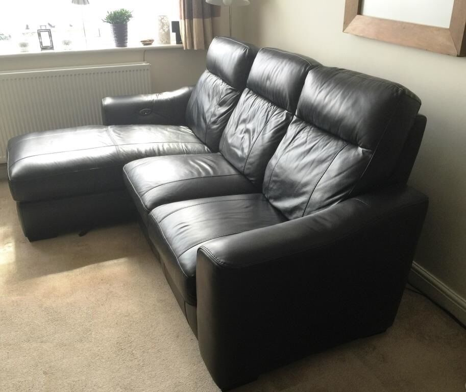 Electric recliner paloma leather corner sofa from for Paloma leather sofa