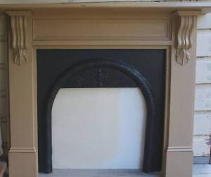 Colonial fireplace mantel with a cast iron firebox cover Wahroonga Ku-ring-gai Area Preview