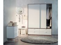 DESIGNER HOUSE SALE! Ikea TRYSIL Wardrobe-Sliding Doors/4 Drawers. NEW-THREE AVAIL. Delivery for £20