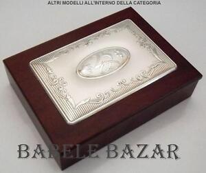 Portagioie cm19x14x6 argento cm15x10 nozze d 39 argento 25 - Portagioie argento ...