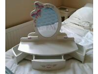 Girls mirror vanity unit (Early learning centre), £5, collection only from Copford near Colchester.