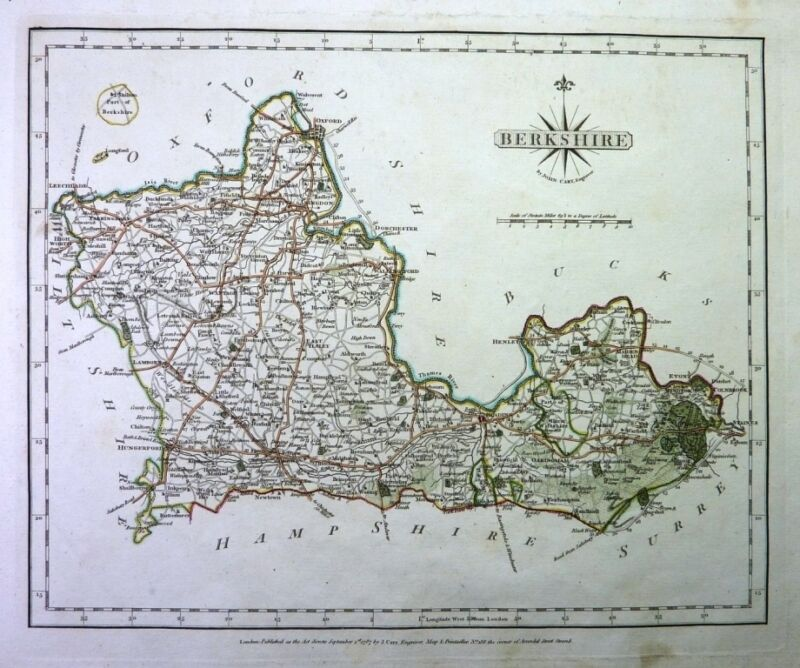 Antique map, Berkshire  ..
