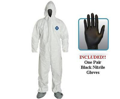 Dupont Ty122s Disposable Tyvek Coverall Hood Boots With Gloves - Choose Size