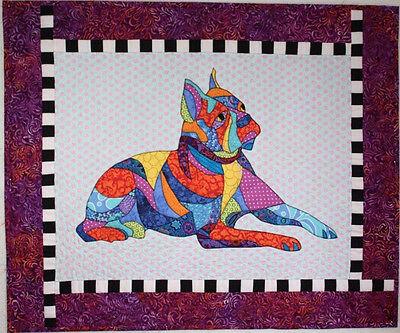 BJ Designs & Patterns Baxter the Boston Terrier Dog Applique Quilt Pattern