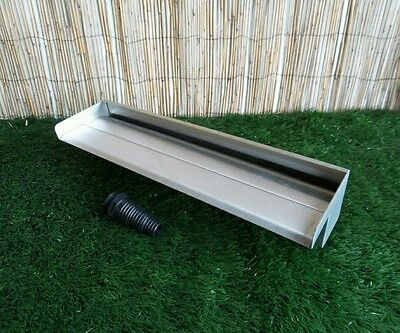 400mm Stainless Steel Waterfall WATER BLADE Cascade Koi Fish Pond BOTTOM INLET
