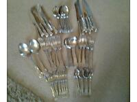 68 pieces kings design excalibur 1862 sheffield cuttlery set reduced
