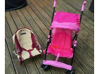 Hello kitty dolls stroller