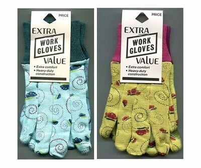 Children's 100% Cotton Jersey Gardening Kids Work Gloves Yellow/Red-Blue/Blue ()