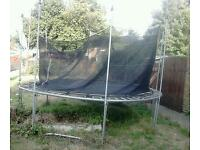 12FT TRAMPOLINE & SAFETY ENCLOSURE(NEED QUICK SALE)