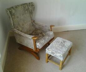 Rocking chair and matching footstool