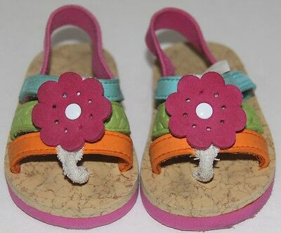 Target Baby Toddler Girls Floral Colorful Bright Thong Foam Summer Sandals  2