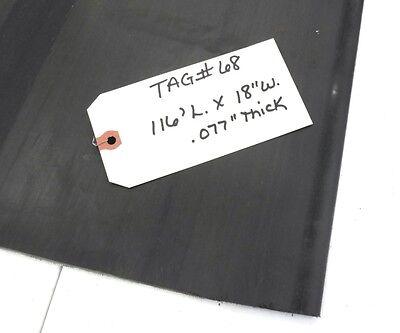 Unknown Brand Conveyor Belt 116 Length 18 Width Black Rubber