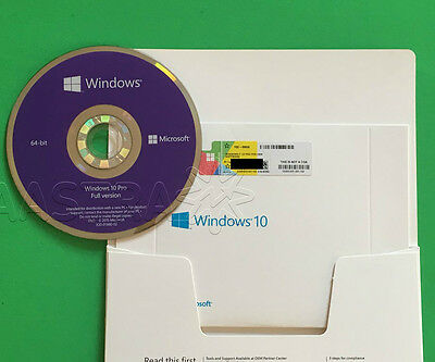 Microsoft Windows 10 PRO Professional 64 bit (OEM) System Builder DVD sealed~