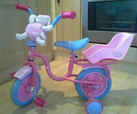Girls baby Annabell bike age 3 +