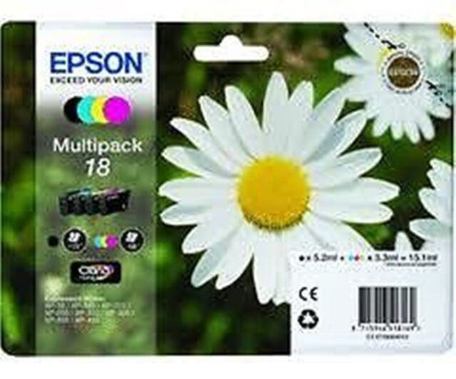 EPSON 18 DAISY MULTIPACK  INKS T1801 T1802 T1803 T1804 BK/C/Y/M  XP 102 205 305