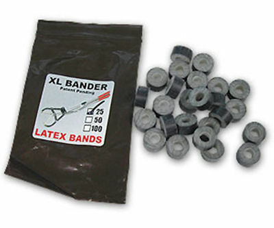 Xl Bull Tri Bander Rings Bands 25 Count Castrate Cattle Sheep Goat