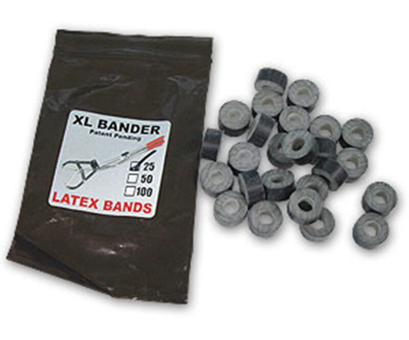 XL Bander Rings Bands 25 Count Castrate Cattle Sheep Goat