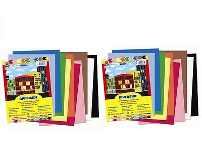 Pacon 9x12 Construction Paper 50 Assorted Colors Pack of 2 (Total 100 count)