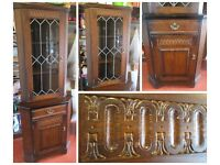 Oak Corner Unit, Wooden Corner Unit and also a display cabinet.