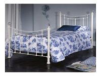 4ft6 Double Limelight Metis Ivory Metal Bed Frame Was £199 Now only £120