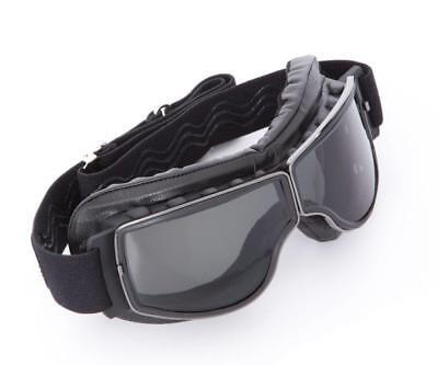 Motorradbrille Boston, schwarz, klare Gläser, auch für Brillenträger