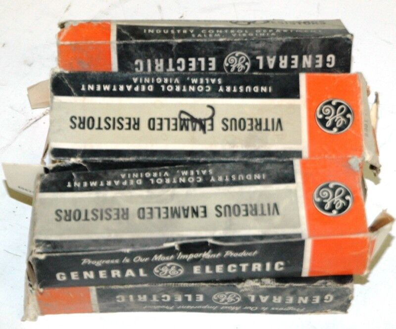 GENERAL ELECTRIC, GE, RESISTOR CONTAINS:  4/60OHM  2/2OHM   LOT OF 6
