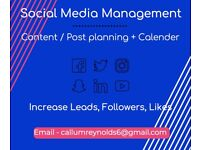 Social Media Managment Content planning & Strategy
