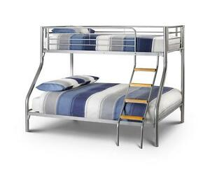 triple bunk beds with mattresses