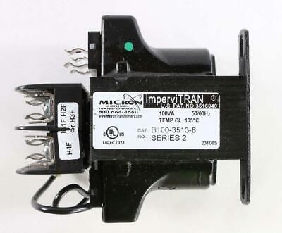New B100-3513-8 Micron Controls Transformer 100VA Series 2