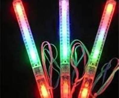 Glow Novelties Wholesale (3 pcs Multi Color Blinking LED Light Wand Stick Party Flashing Glow Novelty)