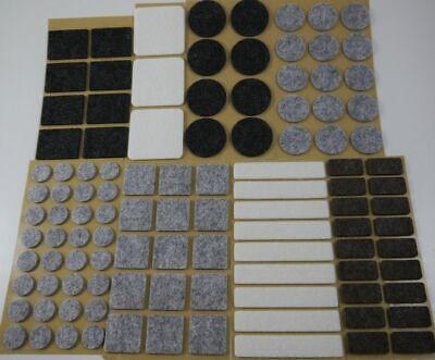 Filzgleiter Selbstklebend Stuhlgleiter eckig rund Klebefilz grau braun schwarz
