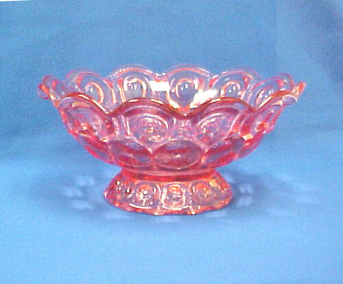 "Moon & Star Large 10"" Pink Footed Bowl~ Weishar"