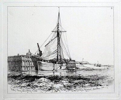BILLY BOY, SHOREHAM, SUSSEX, E.Cooke antique maritime ship nautical print 1829