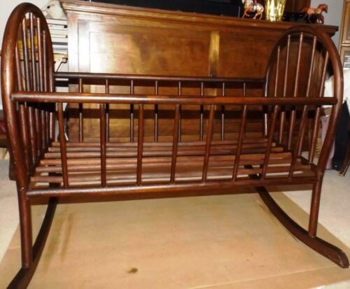 Bent Cherry Wood Rocking Cradle