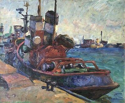 Claus Becker ( 1902 - 1983 ) - Schlepper im Hamburger Hafen - 1979