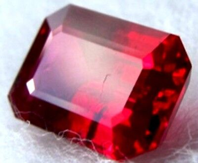 2.5 ct  Ruby Emerald  Shape New Vintage Genuine Corundum Swiss Made  9 x 7 mm