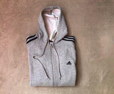 Adidas Vintage, Mens classic full zipped Hoodie, Grey, size L / XL