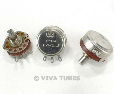 Vintage Lot Of 3 Allen-bradley 37-112 Type J Potentiometers 250k Ohm