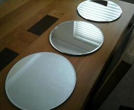 Wedding centrepiece mirror plates